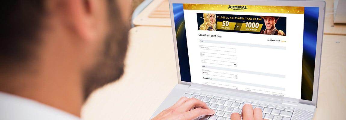 cont nou admiral online