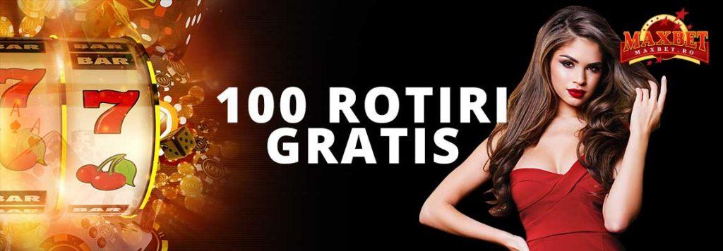 Maxbet 100 rotiri gratis