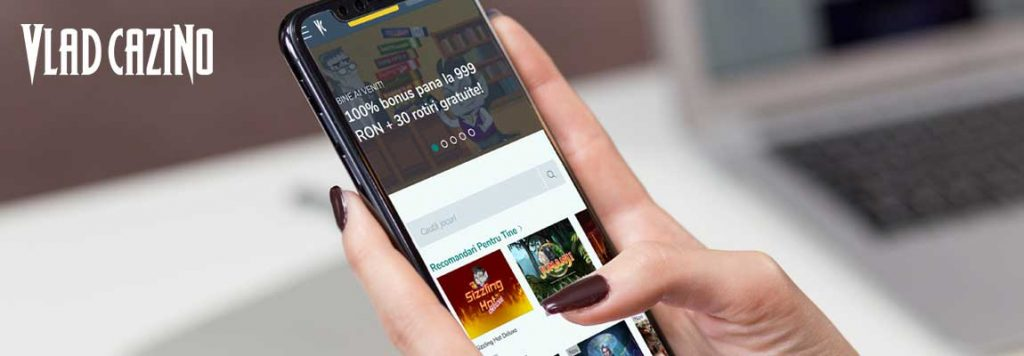 aplicația Vlad Cazino pe mobil
