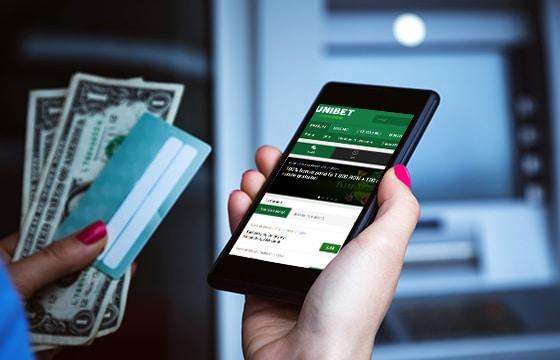 Transferul bancar pentru prima depunere Unibet.