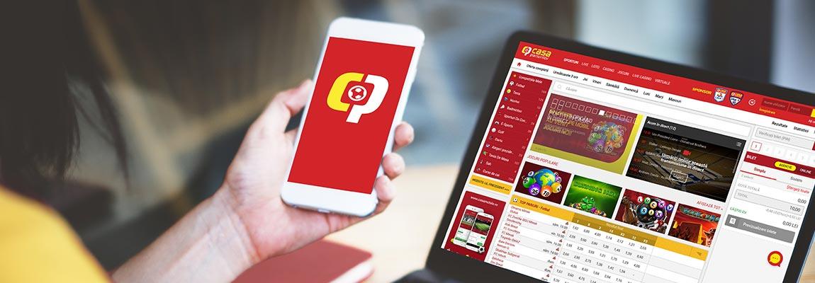 casa pariurilor online pe mobil