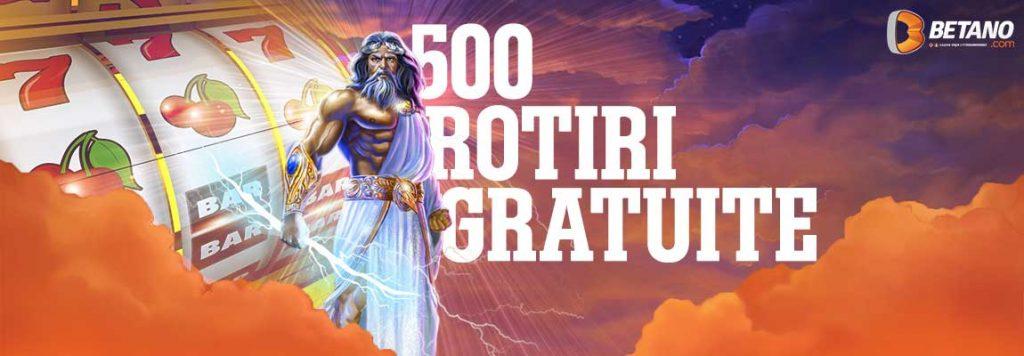 500 rotiri gratuite Betano