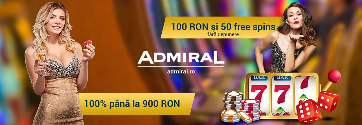 Admiral bonus fara depunere