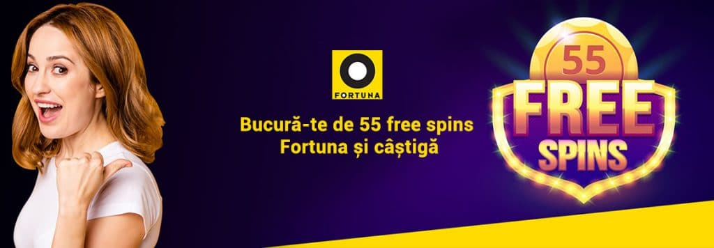 55 free spins Fortuna
