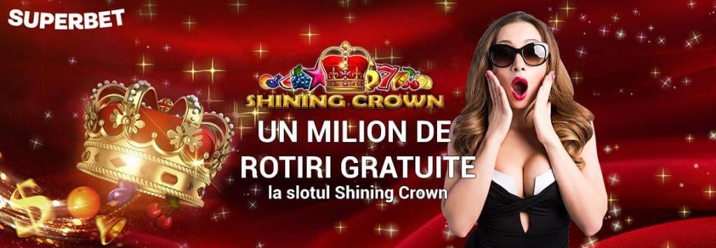 un milion de rotiri gratuite la Shining Crown