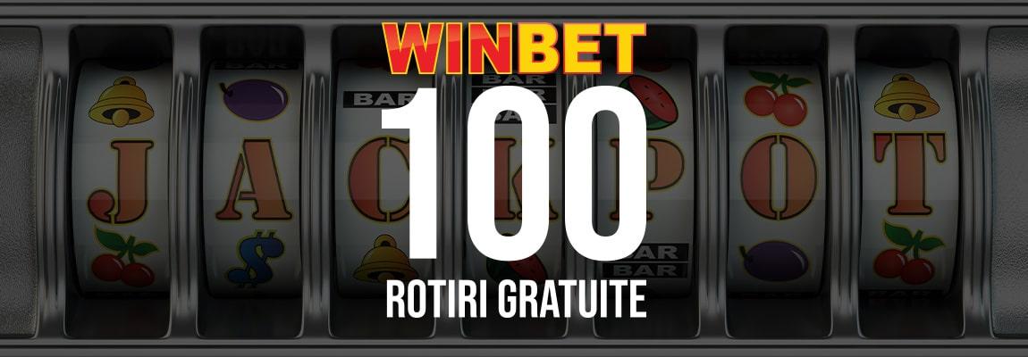 100 Rotiri gratuite Winbet