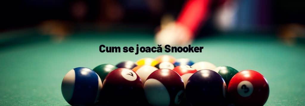 Cum se joacă Snooker