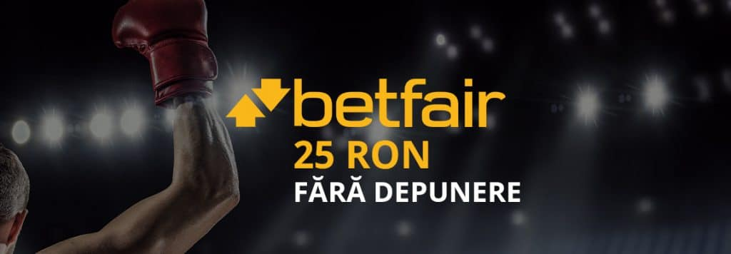 bonus betfair 25 RON