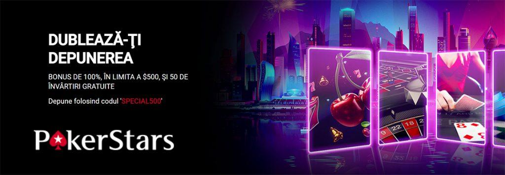 pokerstars romania cod bonus casino