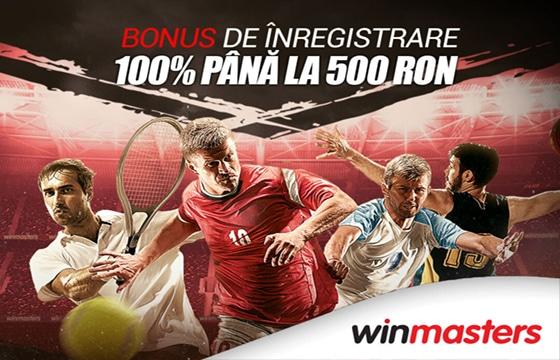40 RON winmasters bonus pariuri