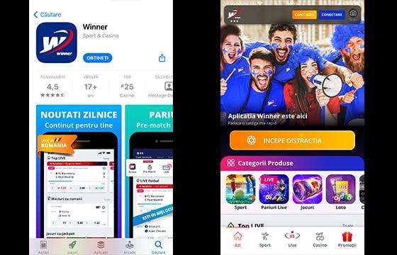 aplicatie winner mobil
