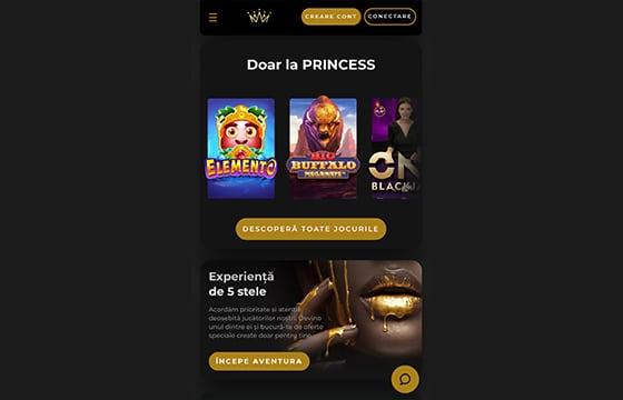 prima pagina princess casino pe mobil